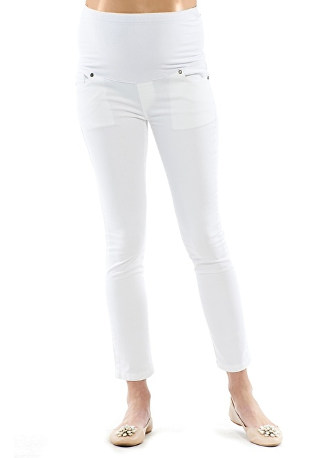 Motherway Maternity Pantolon Beyaz